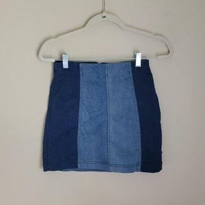 womens Free People Jean Skirt